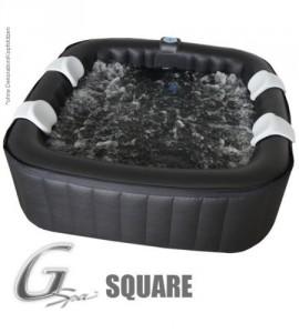 4-6 Pers. Jacuzzi Whirlpool G-Spa aufblasbar Square Spa ca. 1,89cm x 1,89cm GSpa Bubble Spa incl Heizung